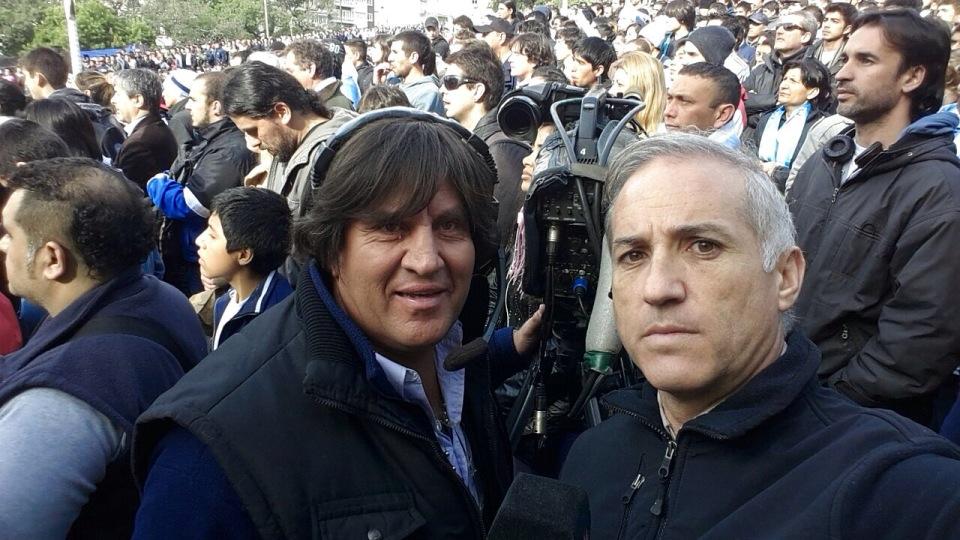 Móvil con Quiroga,mi amigo camarógrafo